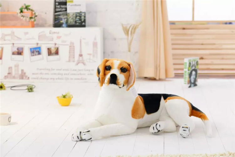 lovely simulaiton stuff beagle dog toy cute lying beagle dog doll gift about 45cm new plush gray akita dog toy lovely cute fat sitting akita dog doll gift about 45cm