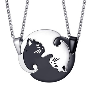 Couples Jewelry Necklaces Blac