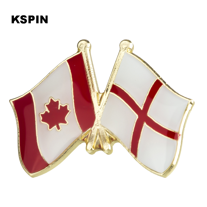 Apparel Sewing & Fabric Disciplined Metal Badges Canada Russia Flag Badges Icon Bag Decoration Buttons Brooch For Clothes Ks2234