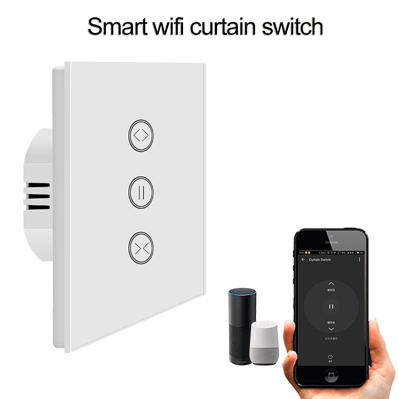 Active Eu Smart Wifi Curtain Switch For Electric Curtain Roller Shutter Blind Motor Voice Control Google Home Alexa Tuya Smart Life At All Costs Home Improvement Automatic Curtain Control System