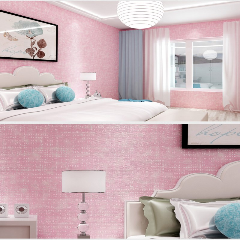 Colomac modern 3D plain non woven vinyl pattern living room ...