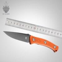 Kizer fixed blade knife pocket knife orange handle outdoor camping knife for hunting|Knives|   -