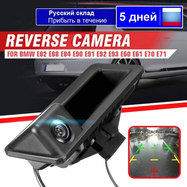 Auto Auto Videocamera Vista Posteriore di Retromarcia Parcheggio HD CCD PER BMW X5 X1 X6 E39 E46 E53 E82 E88 E84 E90 E91 e92 E93 E60 E61 E70 E71 E72