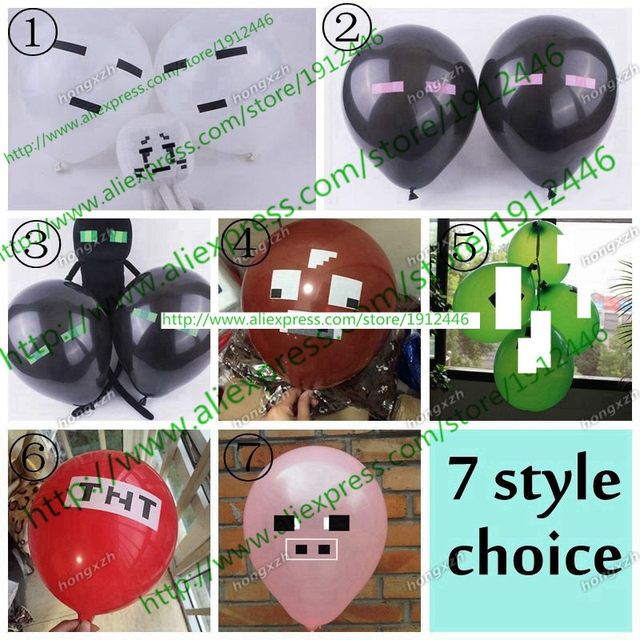 Minecraft Balloons TNT Latex Party Decorations Supplies Material For Children Kids Boys Girls Toys DHL
