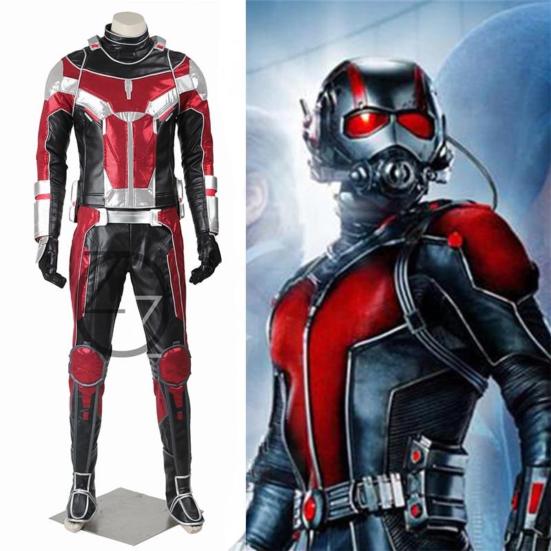 Dropshipping Captain America Civil War Ant man costume adult Halloween costumes for men Superhero Ant-man Cosplay Costume