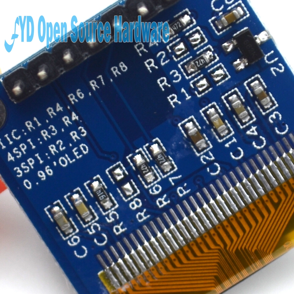 1000pcs 128X64 12864 IIC 0.96 Inch 7pin OLED LCD LED Display Module Yellow Blue Double Color for Arduino 0.96 IIC SPI
