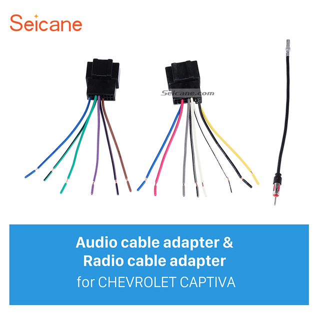 seicane high quality wiring harness adapter audio cable and radio rh aliexpress com audio cable wiring diagrams audio cable connector types