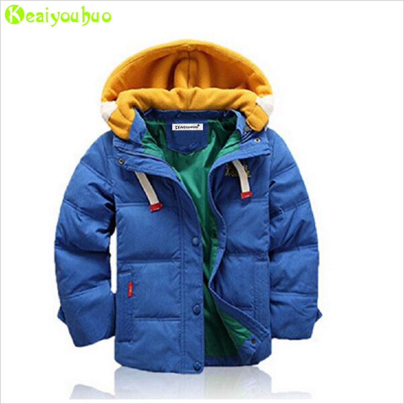 c4566daa4ef1a Teenagers Boys Jacket 2018 Autumn Winter Jacket For Boys Coat Kids Warm  Hooded Outerwear Coat For Girls Jacket Children Clothes