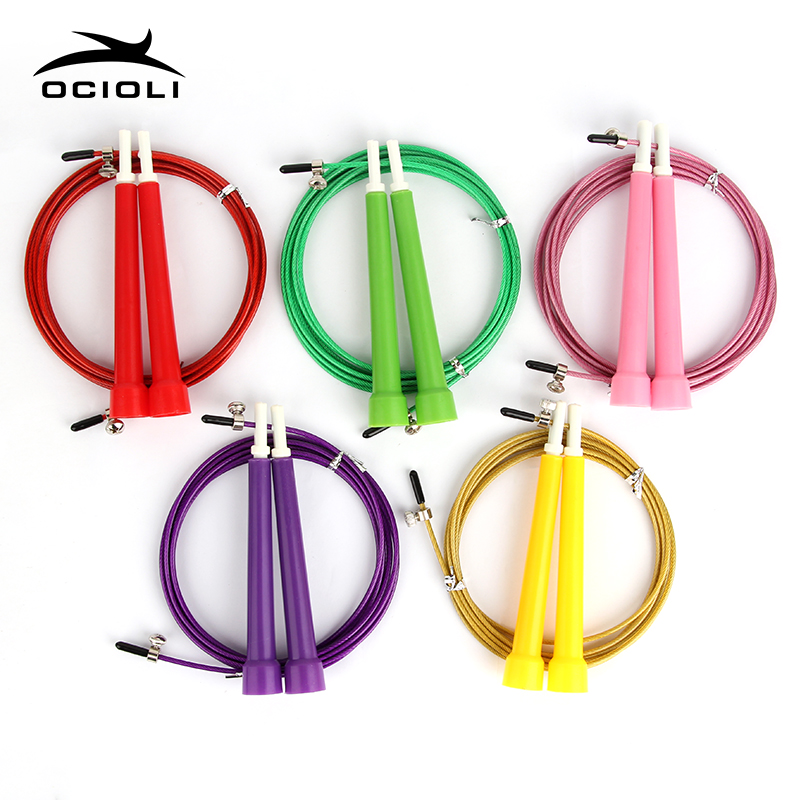 OCIOLI Skipping Rope Adult Sports MMA Jump Rope Professional Technical Speed Skipping Rope Adjustable Crossfit Fitness Equipment skipping rope