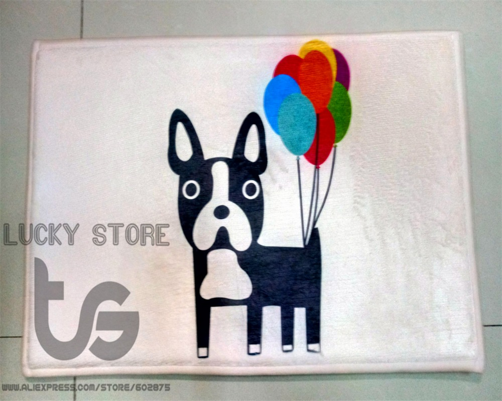 Cartoon Dog font b type b font C simple style mat Non slip carpet Korean doormat