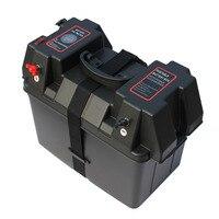 IZTOSS Marine Trolling Motor Power Center Station Battery Box with voltmeter,USB and 12V charger port