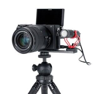Image 3 - Ulanzi PT 5 Vlogging Mikrofon Halterung Ständer Verlängerung Bar Platte mit Kalten Shoe1/4  20 Stativ Loch für sony A6400 Video Vloggers