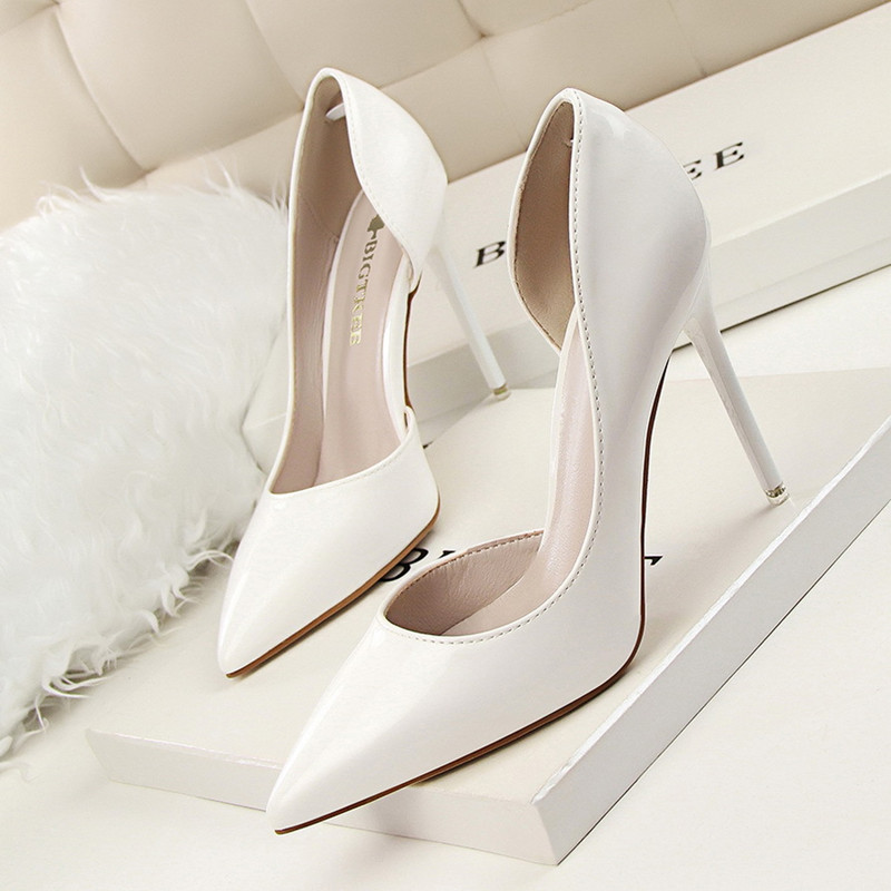 New Spring Single High Heels Shoes Women Pumps Thin Heels Concise Summer Elegant High Heeled Shoes