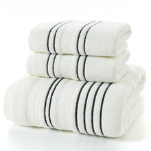 LYN&GY Grey Men Cotton Bath Towel Set for Adults toalla 2pcs Face Washcloth 1pc Camping Shower Towels Bathroom 3pcs