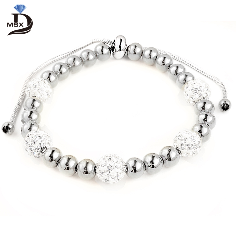 Micro Pave Crystal Beauty Beads Bracelet Gold Color High Quality Adjustable Jewelry Fine Women Accessories for Gift Christmas
