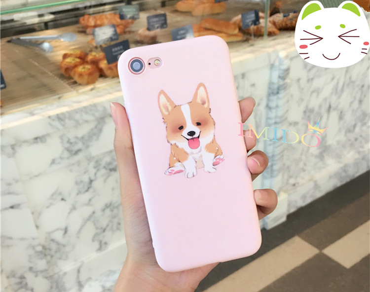 new arrival kawaii cute corgi pet cover for apple iphone 6 6s plus iPhone7 7P 8 8P soft mobile phone Case lovely capa shell