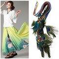Mulheres cintos de todos os jogo decoração vestido fino Coreano tecidos à mão cinto de cauda do pavão são atados G1220