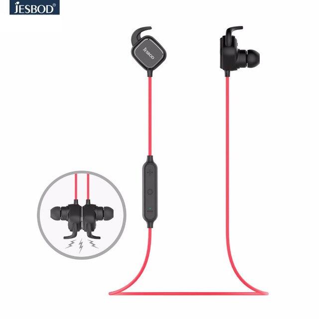 JESOBD QCY QY12 magnet switch adsorption earphones sport wireless bluetooth 4.1 headphones aptx hifi headset with Mic for iphone