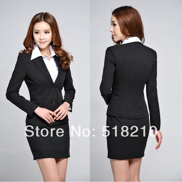 e5fb415e54c Newest Plus Size 3XL Spring Autumn Professional Business Women Work Wear  Skirts Suits Blazer + Skirt For Office Ladies Outfit
