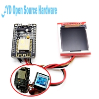 1set ESP8266 Development Kit TFT Screen Material Networking Intelligent Home Function To Achieve WiFi Temperature And