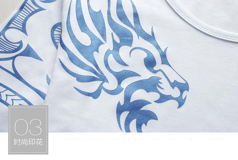 2017 Autumn new high-end men's brand t-shirt fashion Slim Dragon printing atmosphere t shirt Plus size long-sleeved t shirt men 10