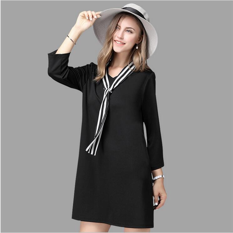 Autunno e di inverno delle signore delle donne abbigliamento plus-size  manica pieno di modo allentato Grandi cantieri abiti Y051 ! aaa1ebb5a01f