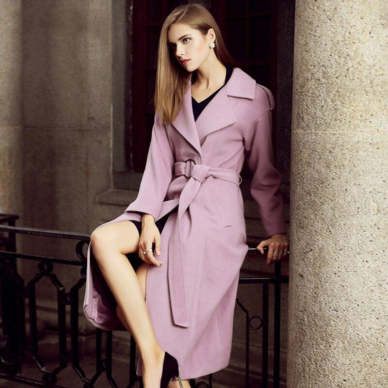 Veste Européen Femelle Mode G129 De xxl Outwear Manteau Cachemire Nouveau Style Femmes Lavande D'hiver Laine Printemps Longues S Chaud wq6IpAZx
