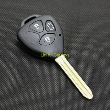 PINECONE for TOYOTA Car Key 3 Buttons Uncut Brass Blade Blank Straigh ABSt Key Shell 1PC WHOLESALE image