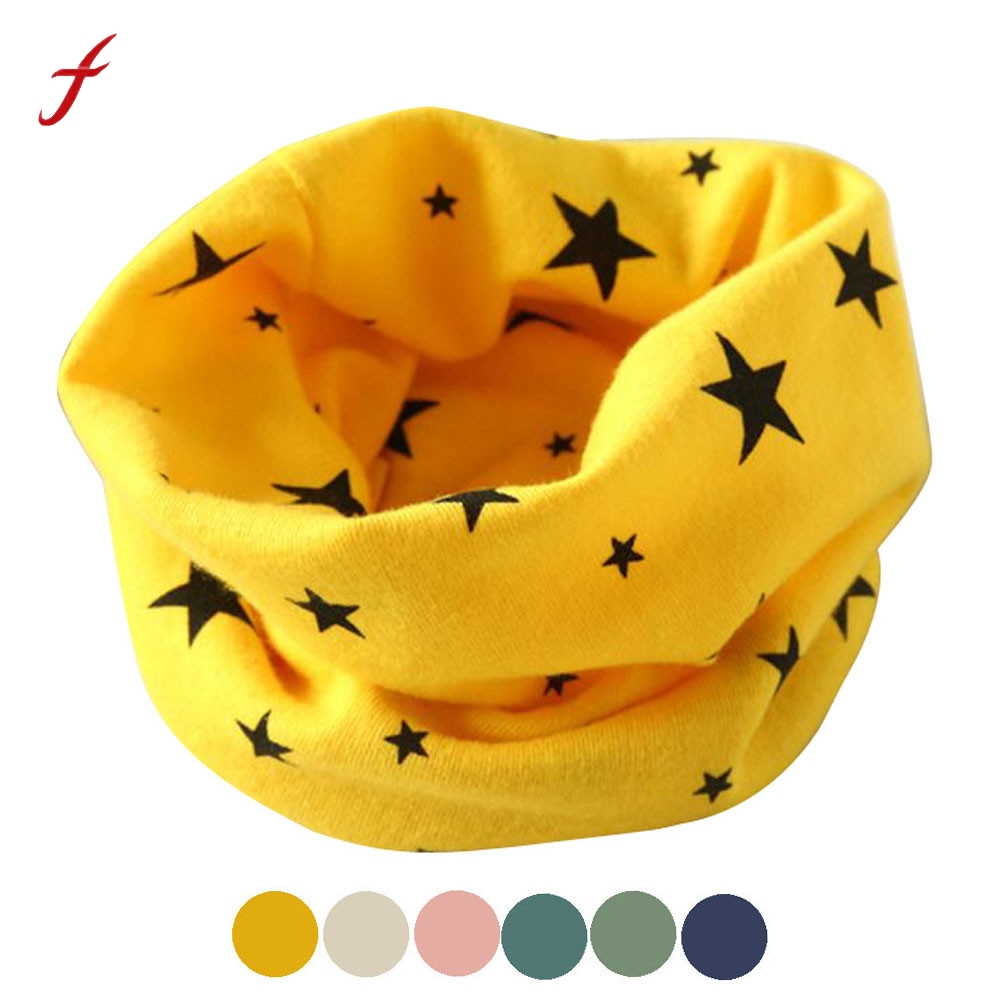 Mance Autumn Winter Fashion Classic Children's Scarf Boys Girls Collar Baby Scarf Cotton O Ring Neck Scarves New 2019(China)