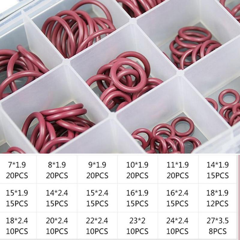 Уплотнительное кольцо комплект Ассортимент Набор R134a R12 для автомобильной A/C кондиционер Системы красный HNBR резиновая