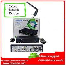 FREESAT V7 Max 2 unids wifi hd Decodificador Receptor 1080 P FULL HD DVB-S2 receptor de Satélite Soporte YouTube freesat v7 max Powervu