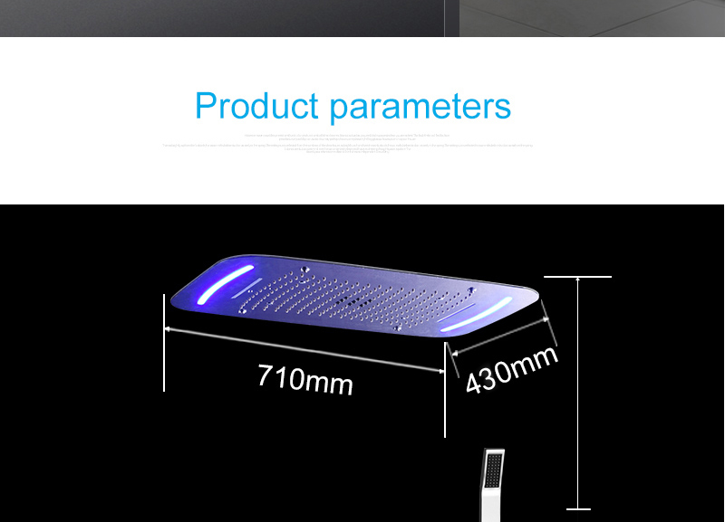 hm Rain Shower System Ceiling Mount Multifunction Mist Spray Waterfall Spa Massage With Electric High Flow Thermostatic Diverter (13)