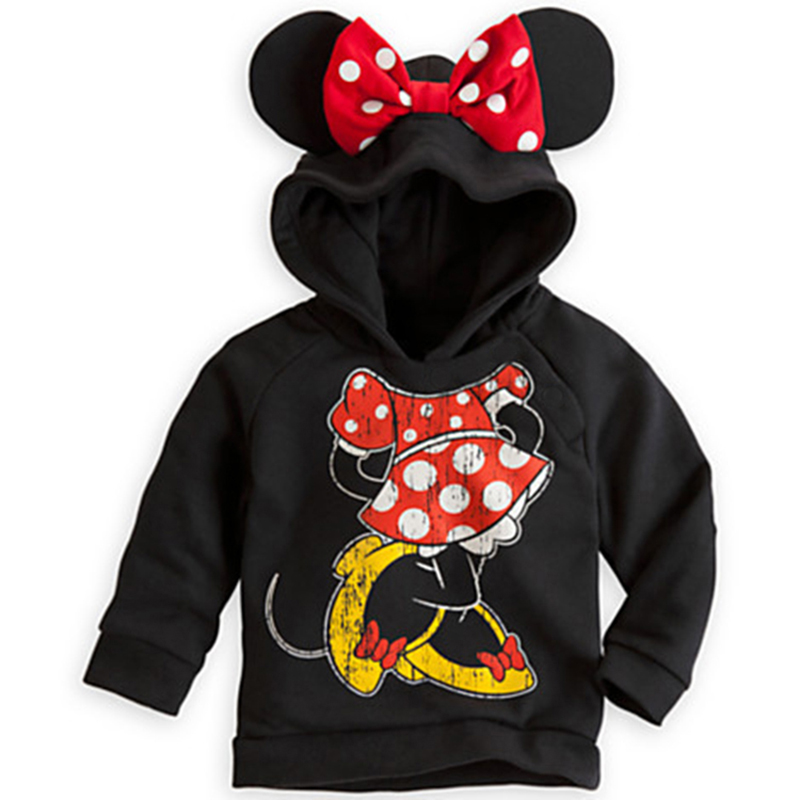 Children Hoodie Long Sleeved T-Shirt Cartoon Baby Boys Girls T Shirt Kids Student Hooded Cotton Tops Sports Casual Tees Sweater