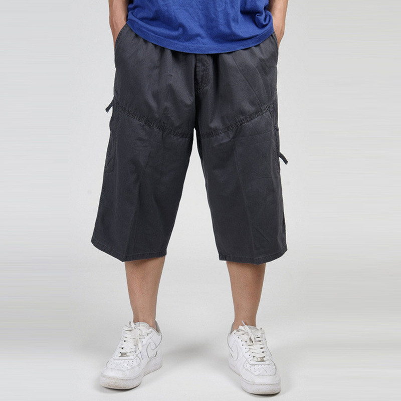 New Fashion Summer Men Casual Shorts Pockets Cargo Short Pants Loose Beach Shorts Comfortable Cotton Mens Trousers Plus Size 6XL