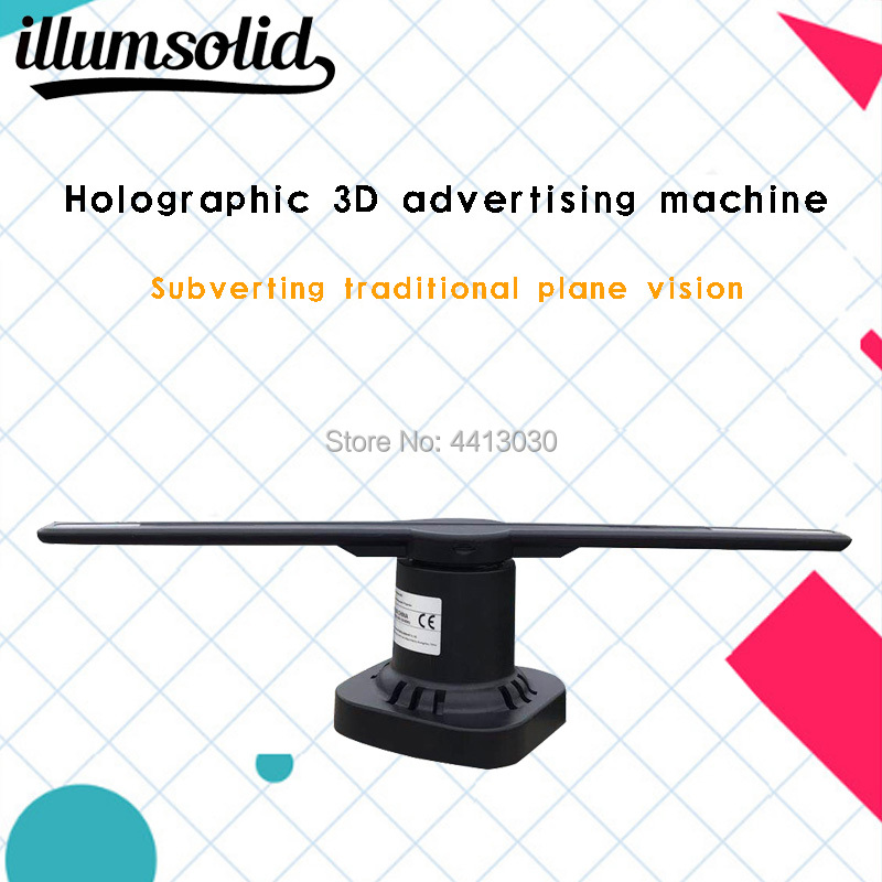3d led holographic fan advertising holograma display projector wifi image