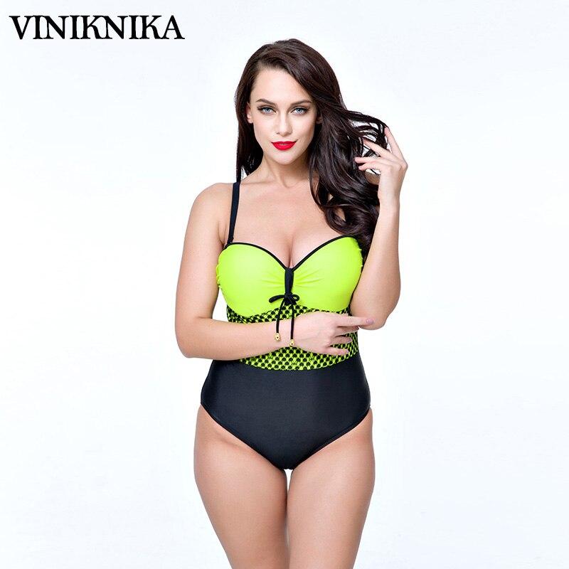 VINIKNIKA 2017 Siamese plus fertilizer to increase the number of swimsuit yarn Swimwear Summer Women Sexy Beach Swimsuit Retro телевизор supra stv lc22lt0030f