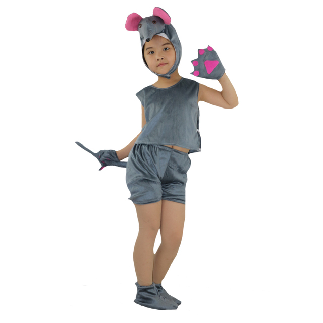 2017 New Short Sleeved Animal Gray Mouse Cosplay Costume For Kids Performance Show Clothes Halloween Carnival  sc 1 st  AliExpress.com & 2017 New Short Sleeved Animal Gray Mouse Cosplay Costume For Kids ...