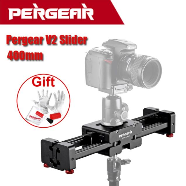 Pergear Adjustable Camera Video Slider V2 Short 400mm For SLR DSLR DV Camera Up to 8kg Dolly Stablizer P0010554