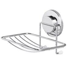Suporte de sabão taili ventosa sem perfuração e removível suporte de sabão de parede max hold 11lbs organizador para banheiro e cozinha chrome