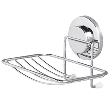 TAILI Soap Holder Suction Cup NO Drilling&Removable Wall Soap Holder Max Hold 11lbs Organizer for Bathroom & Kitchen   Chrome