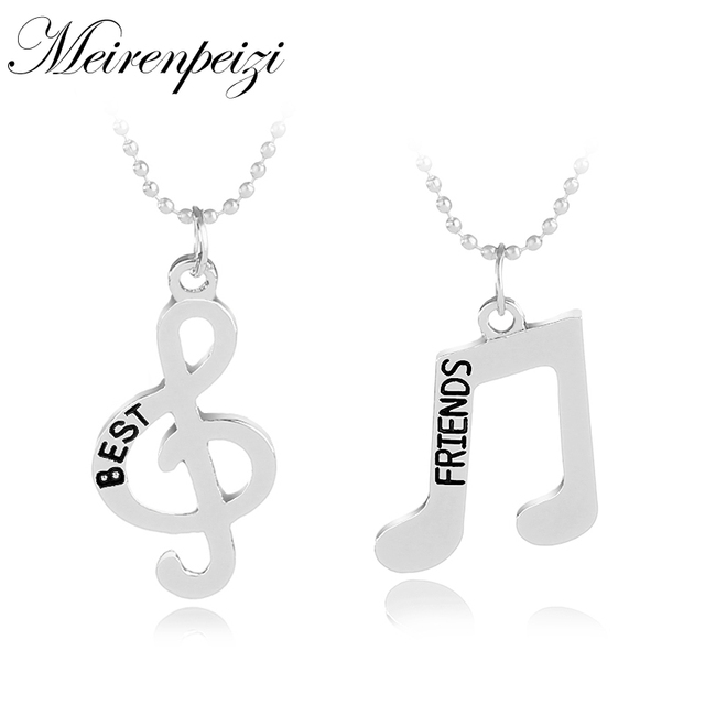 Music Note Clef Symbol Bff Best Friends Friendship Forever Necklace