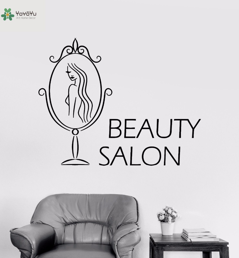 Yoyoyu Vinyl Wall Decal Beauty Salon Mirror Interior Room Door Art Modern Store Simple Decoration Stickers Fd512 Buy At The Price Of 7 33 In Aliexpress Com Imall Com