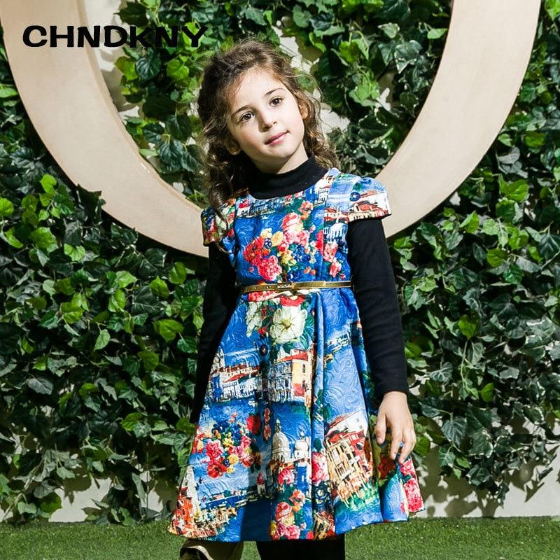 Mädchen Kleider Kinder Kleidung 2017 Marke Winter Prinzessinnen Kinder Party Kleider für Mädchen Kleidung Druck Kinder Kleid
