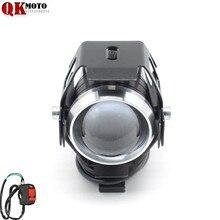 купить Universal 12V Motorcycle Metal Headlight Driving Spot Head Lamp Fog Light For BMW F650GS F700GS F800GS F800GT F800R F800S F800ST онлайн