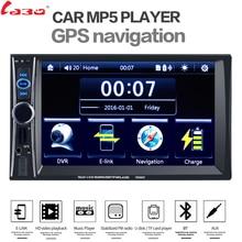 """Labo автомобиль видео плеер 7 """"HD 2 Дин Радио Стерео gps-навигация FM RDS Bluetooth пульт дистанционного управления сзади камера заднего вида"""