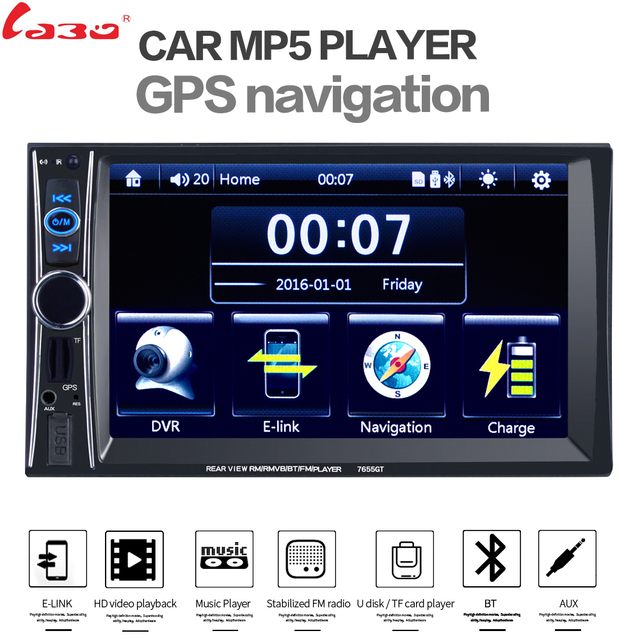 labo car video player 7\u0027\u0027 hd 2 din car radio stereo gps navigationlabo car video player 7\u0027\u0027 hd 2 din car radio stereo gps navigation fm rds bluetooth remote control rear view camera