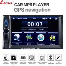 LaBo De Voiture Lecteur Vidéo 7 »HD 2 Din Voiture Radio stéréo GPS Navigation FM RDS Bluetooth Télécommande Arrière Vue caméra