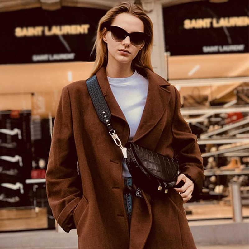 Новинка 2019 года модная женская одежда сумка полукруг скрытой из искусственной кожи Женские Винтаж Мода одно плечо в виде ракушки сумки OC001