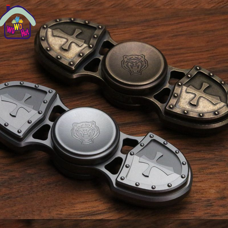 2017 Hot Tri Spinner Fidget Toy Alloy EDC Hand Spinner For Autism and ADHD Rotation Time