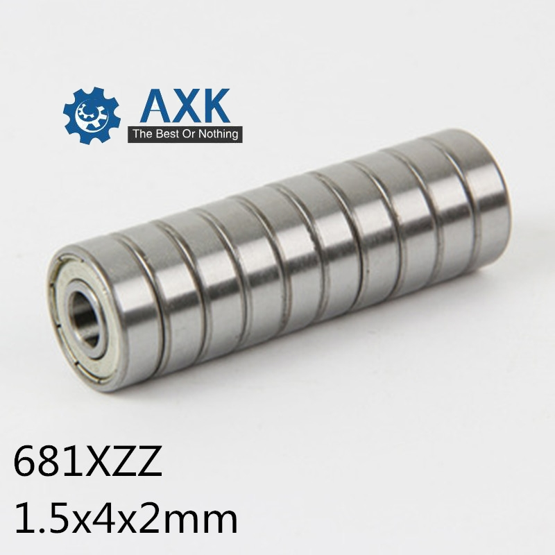 Double Metal Shielded PRECISION Ball Bearing 1.5*4*2 1.5x4x2mm 12 PCS 681XZZ